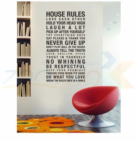 Правила внутреннего любите друг друга известный английский семья говоря слова декоративные водонепроницаемый стены стикеры наклейки