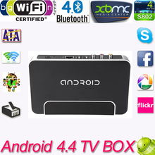 TV Box Android 4.4 RK3128 Quad Core Smart TV Box Player 1G/8 GB 1080 P Wifi XBMC Miracast dlna tv Player mit Fernbedienung(China (Mainland))
