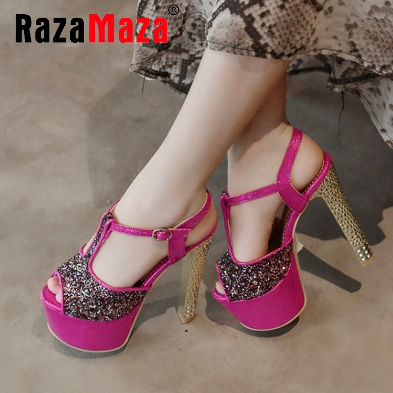 women stiletto ankle strap platform high heel sandals brand sexy fashion ladies heeled footwear heels shoes size 33-40 P17657<br><br>Aliexpress