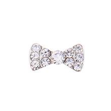 20 pcs 3D alloy AB rhinestones bows nail art DIY nail jewelry charms decoration supplies bowknots(China (Mainland))