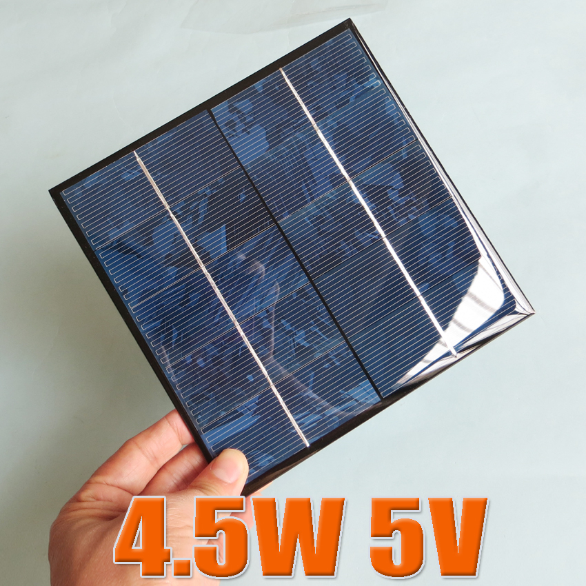 5V 4.2W 840mA Mini monocrystalline polycrystalline solar Panel, 5VDC 4.5W 5W solar cells module battery charger enducation kits(China (Mainland))
