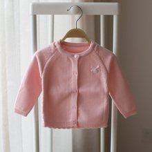 New 2017 spring and autumn infant baby girls cardigan sweater knitted sweater children tops()