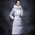 2016 Winter Duck Down Jacket Women Long Coat Parkas Thickening Female Warm Clothes Faux Fur Collar