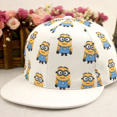 2016 baseball snapback caps children of God CASQUETTE cartoon movie parents Minions steal flat canvas hat hip hop Gorras(China (Mainland))