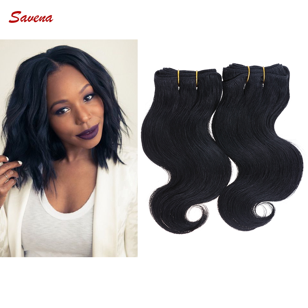 2Bundles/lot 50g/Bundle Short Size 8Inch Brazilian Bodywave Human Hair Extension 100% Human Hair Weaving(China (Mainland))
