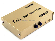 NEW High Quality 2 Port VGA Switch LCD Monitor KVM Switcher 2 to 1 Selector Box 2 in 1 Vga Sharer Splitter For Computer