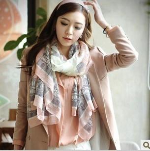Новый 2016 мода шарф повелительниц дамы бутик эйфелева башня шарфы подарок пр темперамент модели платки большой размер 180 * 90 см