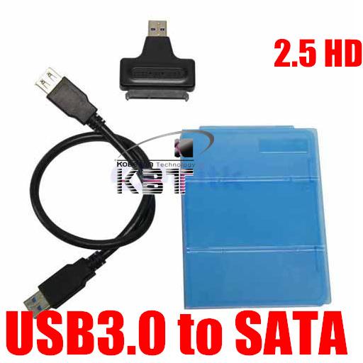 """10pcs Hard Disk Drive 2.5 inch 2.5"""" HDD Enclosure Housing Cover Case + USB 3.0 To SATA Serial ATA HDD Converter Adapter Cable(China (Mainland))"""