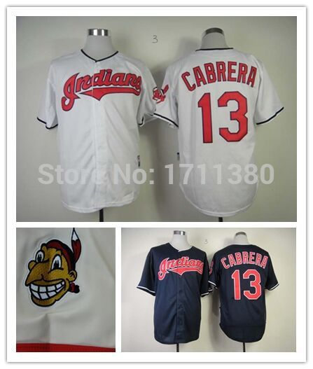 13 Pedro Cerrano jersey Stitched Cleveland Indians ...