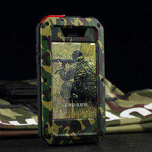 R-Just Original Metal Camouflage Mobile Phone Case for iPhone 6S plus Shock-Proof Outdoors Sports Protector Cellphone Cover Case