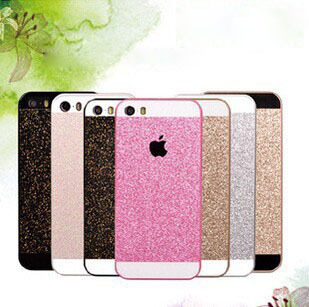 Shinny Bling Glitter Mobile phone Case Pink PC Protect Back Cover Case for iPhone 4 4s 4G Black Gold White Color Free Shipping(China (Mainland))