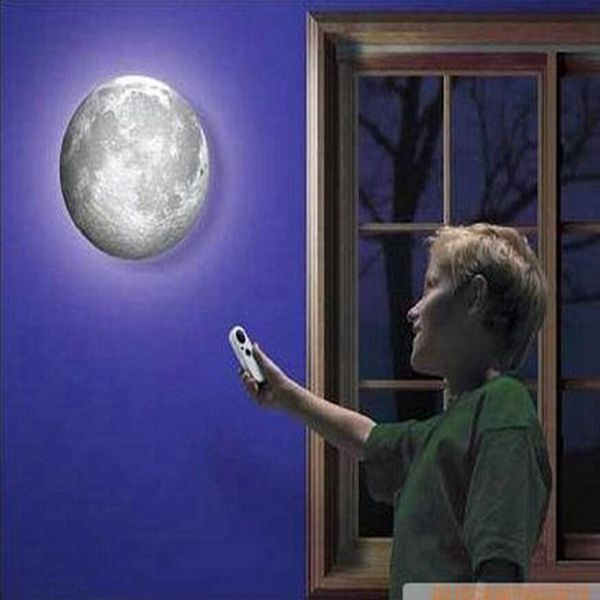 New Arrival Moon Light LED Ceiling Lights Fashion Night Light Indoor LED Wall Moon Lamp With Remote Control Relaxing Healing(China (Mainland))