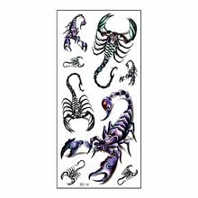 Cool Scorpion King 3d Temporary Tattoo Body Art Flash Tattoo Stickers 19 9cm Waterproof Henna Tatoo