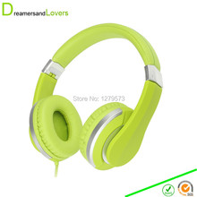 Dreamersandlovers Over Ear Headphones for Kids Boys Girls Child Teens Adults Stereo Headphone for Kindle Fire HD PC MP3 Green