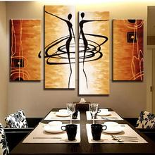 New Arrival! MODERN ABSTRACT OIL PAINTING CANVAS ART Abstract Figures Golden Decoration Oil Painting AB4009(China (Mainland))