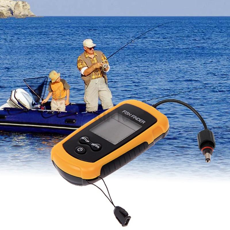 Ulincos US08 Portable Sonar Echo Sounder 100m Depth Fish Finder Alarm Transducer Fishfinder Free Shipping!!!(China (Mainland))