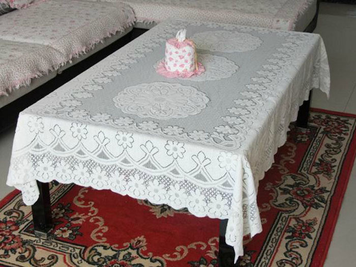 New Trendy Durable Elegant Exquisite Hollow Out Tablecloth Beautiful Tablecloth with lace Decoration(China (Mainland))