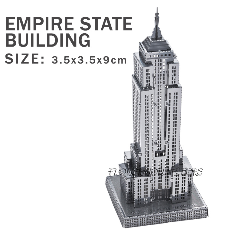 New creative Empire State Building 3D puzzles 3D metal Building model Creative DIY Jigsaws Adult/Children gifts toys And many(China (Mainland))