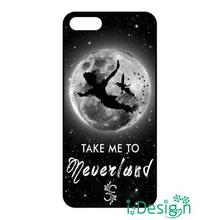 Fit for Samsung Galaxy mini S3/4/5/6/7 edge plus+ Note2/3/4/5 cellphone case cover Take Me To Neverland Peter Pan black