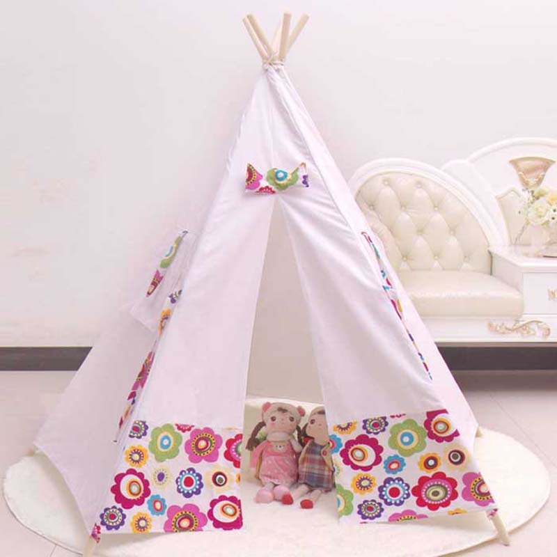 100% Cotton teepee kid tent fabric houses to play kids ...