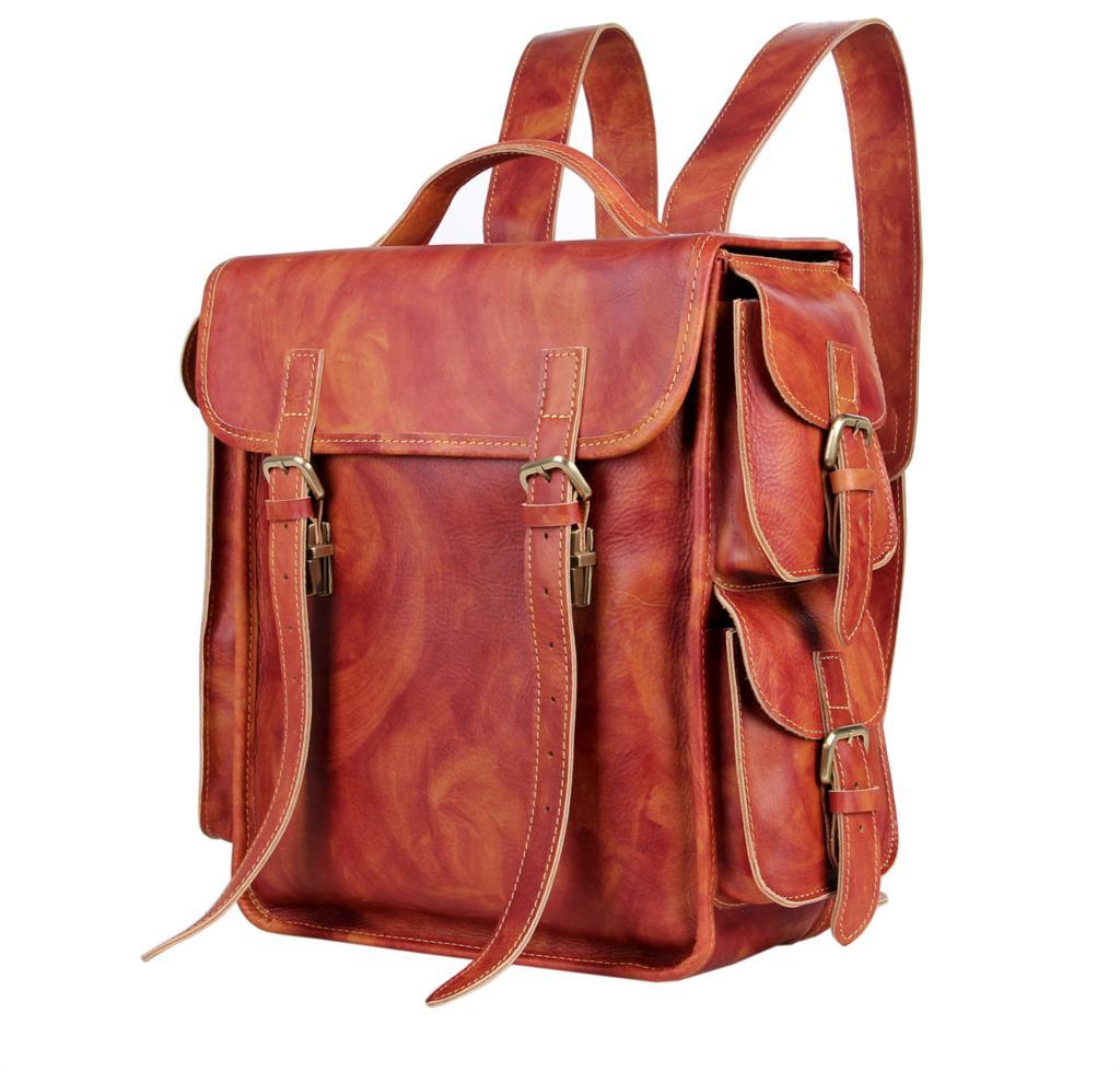 Новое прибытие 2016 высококачественной натуральной кожи мужчин кожаные сумки школьный рюкзак большой емкости дорожные сумки мочила 7238