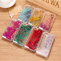 New Fashion Liquid Glitter meteor sand sequins Colorful Dynamic Transparent Hard Mobile Phone cases For iphone4