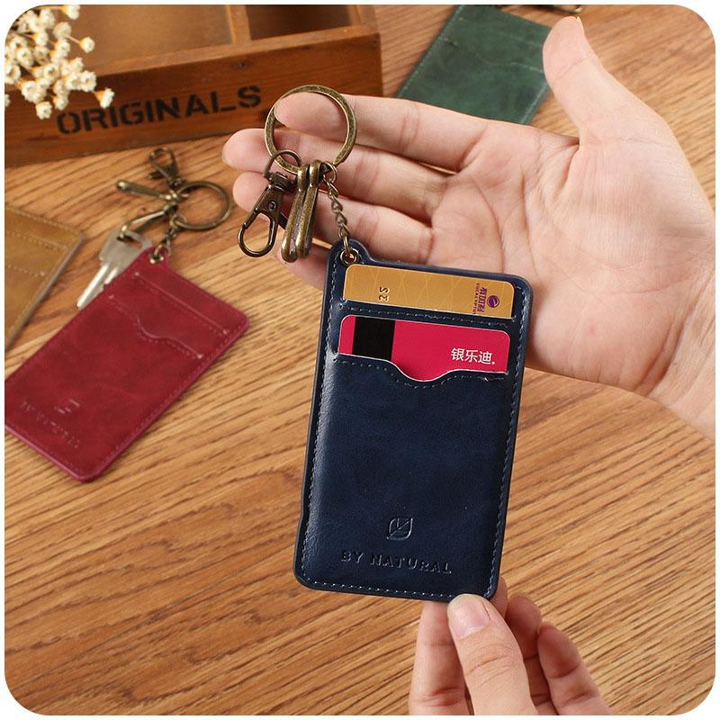 YIYOHI New Retro Unisex Shaped Named Card Holder Employee Identity Badge Lanyard Card Holder Bus ID IC Card Holders
