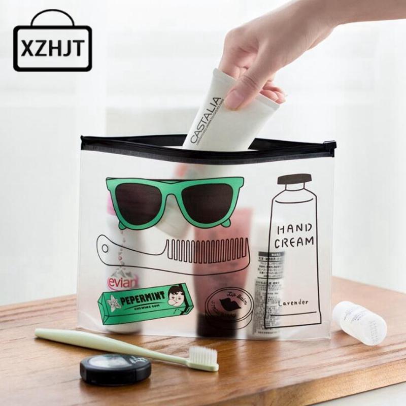 Women Fashion Cosmetic Bags PVC Toiletry Bags Travel Organizer Necessary Beauty Case Makeup Bag Bath Wash Make Up Box(China (Mainland))