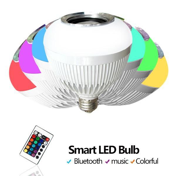 newst party lights led light bluetooth smart led bulb music speaker. Black Bedroom Furniture Sets. Home Design Ideas