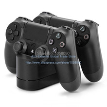 Free Shipping USB Dual Charger Stand for PS4 Charge Dock Game Controller Handle Charger for Dualshock 4 Controller Charger(China (Mainland))