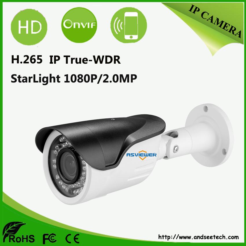 H.265 2MP/1080P True WDR Star light Camera 3516D+IMX290 Sensor 36pcs IR Outdoor Waterproof 1080P IP Camera AS-IP8310SD(China (Mainland))