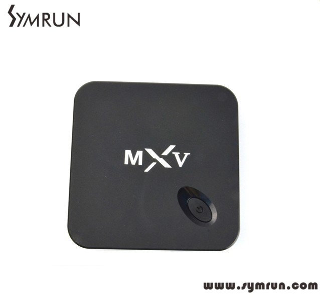 Symrun 2016 Brand New Usb 2.0 Mxv Smart Tv Box Quad Core/Otco Core Android 4.4 Wifi H.2 S805 Mxv(China (Mainland))