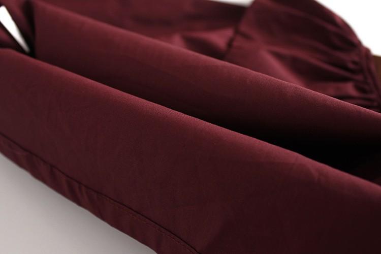 2016 Autumn New Fashion Children Clothing Girls Cotton Cute Petal Collar Long Sleeve Shirt Blouse Purple Color Kids Clothing