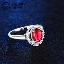 R032 Hot Sale fine jewelry anillos plata mujer 925 sterling silver ring ruby jewellery rings for