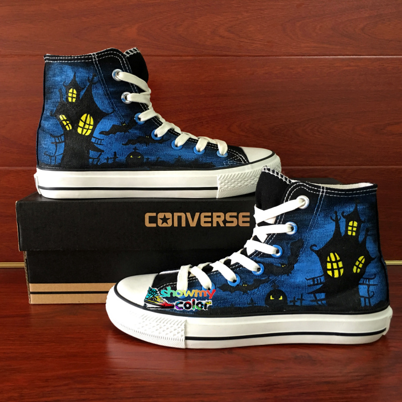 Converse All Star Cusotm Shoes High Top Hand Painted Halloween Canvas Sneakers Best Gifts Men Women(China (Mainland))