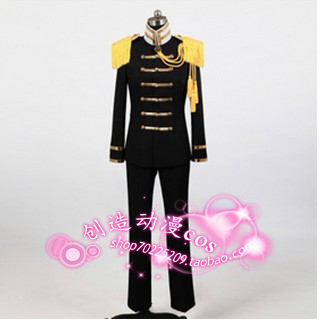 Axis Powers Hetalia APH Prussia COSPLAY Army Costume - Custom Made in Any size