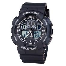 Venta al por mayor exterior Cimbing utilitario deportivo hombres reloj resistente al agua de pantalla Dual estudiante relojes digitales GA100