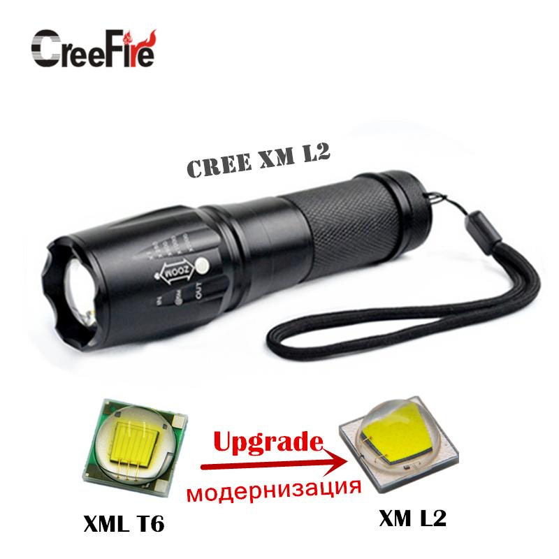 F45 CreeFire XM-L2 5 Modes 3800 Lumens lanterna Torch light mini LED Flashlight Zoomable Penlight Lantern(China (Mainland))