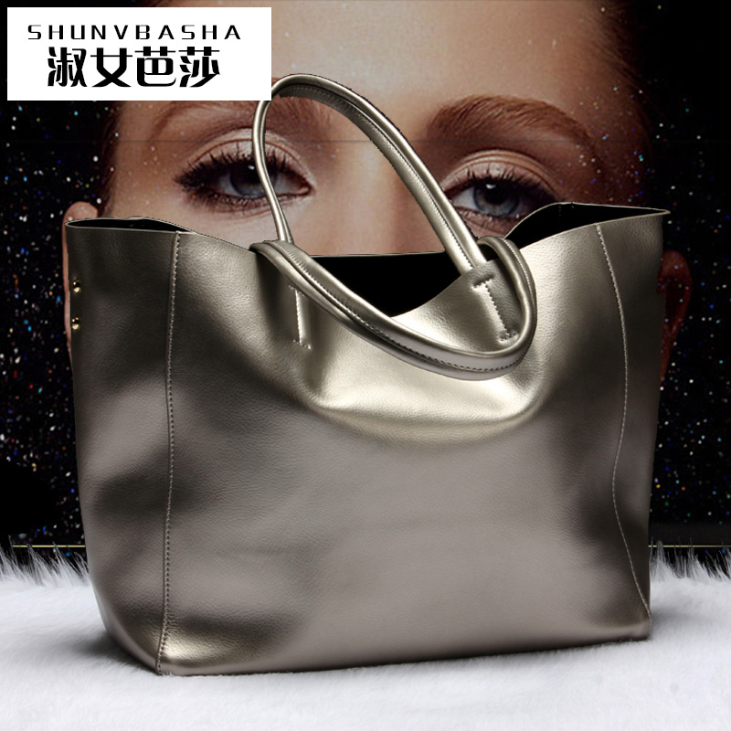 Chinese Style Fashion Cow Leather China Handbags 2016 Women Bag Casual Tote Two Strap handbag Totes(China (Mainland))