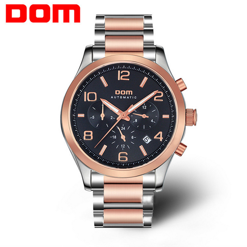 DOM brand watches men stainless steel fully automatic mechanical watch waterproof scratch-resistant sapphire relogio masculino<br><br>Aliexpress