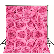 Photography Backdrops 3D Pattern Backdrop Baby Big Pink Roses Photo Studio Backdrop