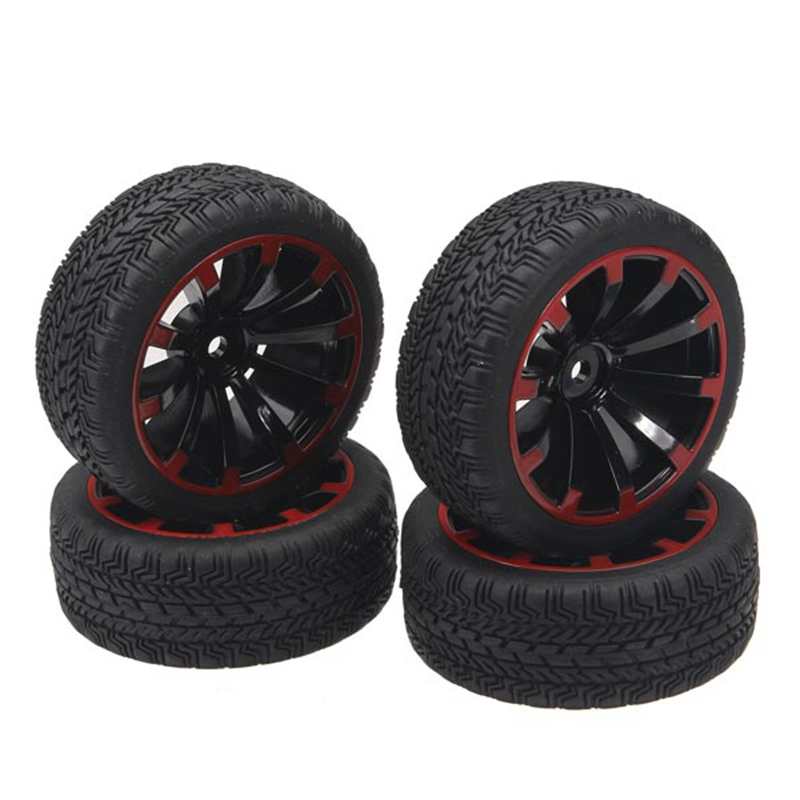 New Arrival 4Pcs 1/10 On-Road Rubber Tyre For HSP Tamiya Losi RC Car Tyre(China (Mainland))