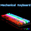 The wielder Gaming Genuine Mechanical Keyboard Switch Anti ghosting Luminous 87 LED Metal Wired Keyboard