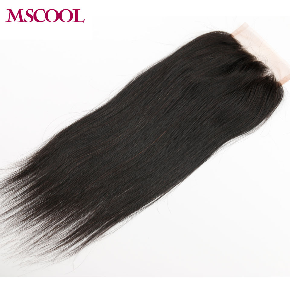 Unprocessed Silky Straight Lace Frontal Closure 4*4 Straight Mongolian Virgin Human Hair Closure MSCOOL Hair Free Part C002<br><br>Aliexpress