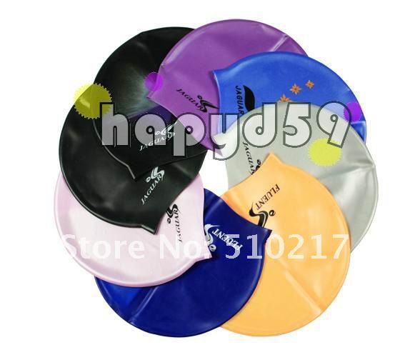JAGUAR Silicone swimming cap swimming hat hair cap free ship(China (Mainland))