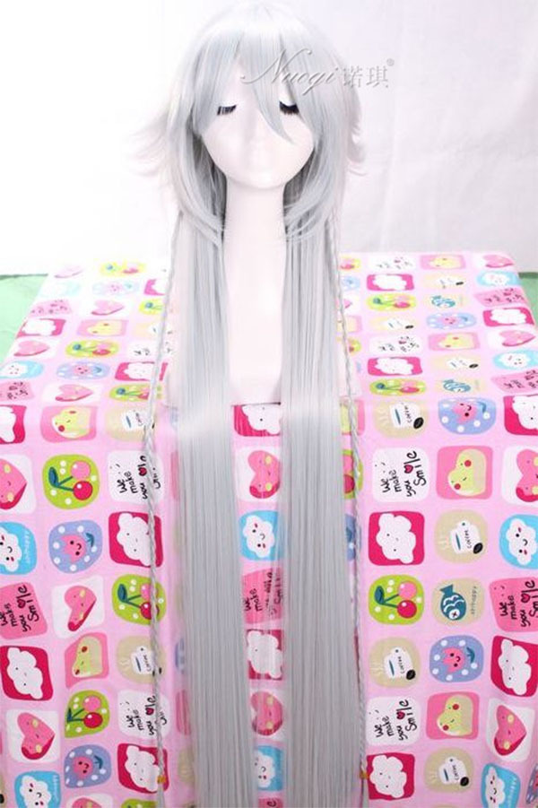 130cm long white wig Black Butler Undertaker synthetic Wigs Anime peruca Halloween Hair Hallowmas pelucas Cosplay  for party<br><br>Aliexpress