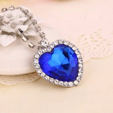 Movie Titanic Heart Of The Ocean Necklace Crystal Pendant Necklaces & Pendants Women Jewelry collares Wholesale Free Shipping(China (Mainland))