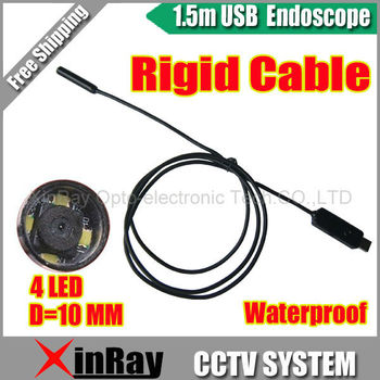 Free shipping ,1.5m Rigid Cable USB Inspection Camera Borescope Endoscope Tube Snake Waterproof with 4LED ,XR-IC2H