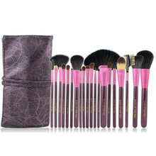 Hot sale maquiagem 20pcs set with cute purple makeup brushes professional high quality beauty ornament of makeup