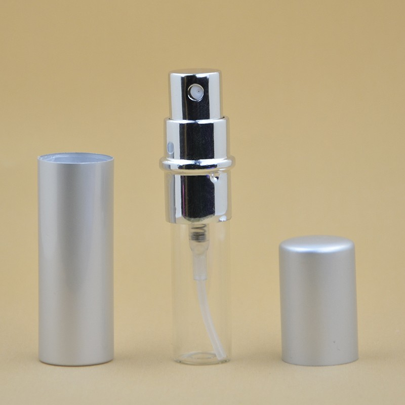 1PCS 5ML Mini Portable For Traveler Metal Refillable Perfume Bottle With Spray And Empty Cosmetic Containers For Free Shipping